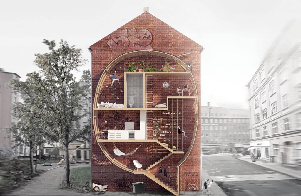 Duński zespół architektów Live Between Buildings w składzie: Ole Robin Storjohann i Mateusz Mastalski