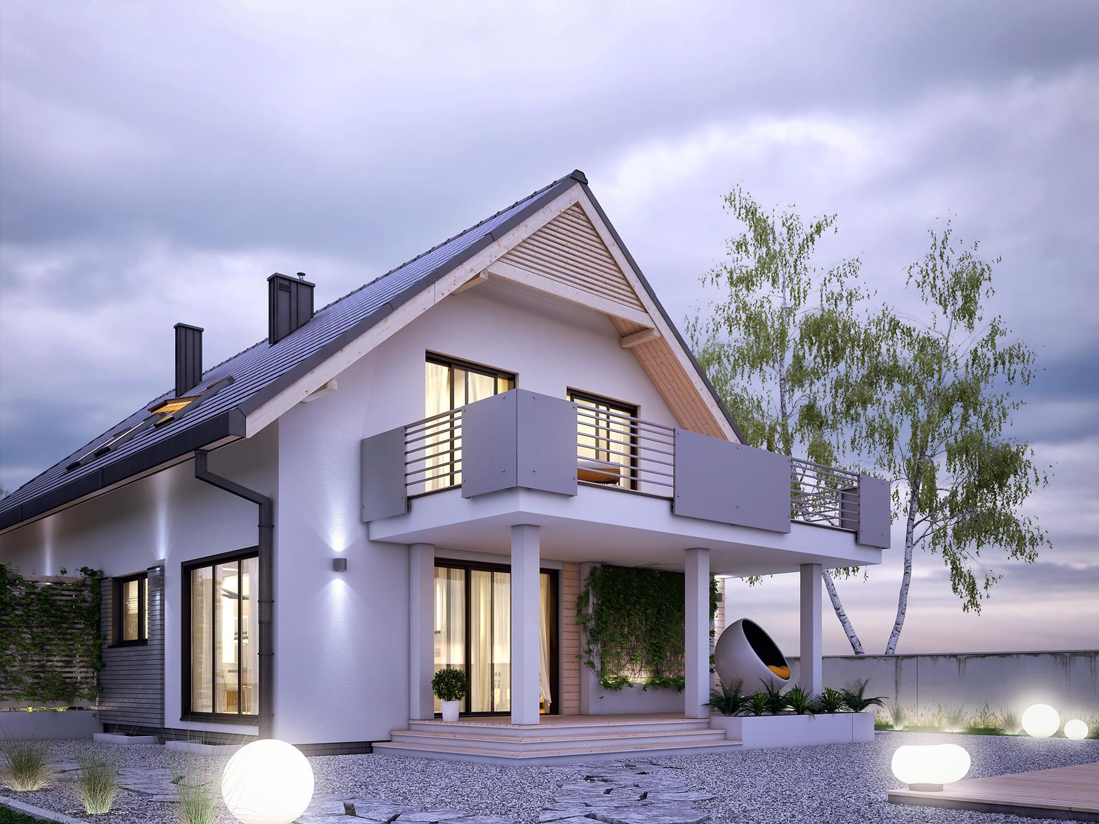 Oświetlenie Zewnętrzne Domu I Podwórza Blog Domy W Stylu