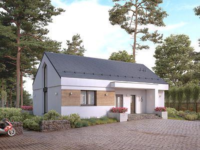 Projekty Domów Murowanych Parterowych Z Dachem Dwuspadowym Domy W