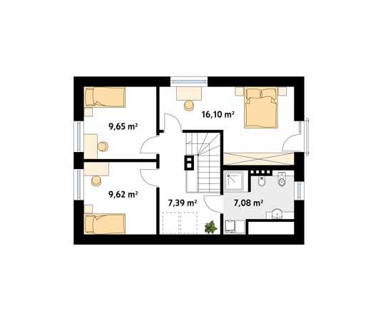 Projekt domu Milutki - rzut piętra/poddasza